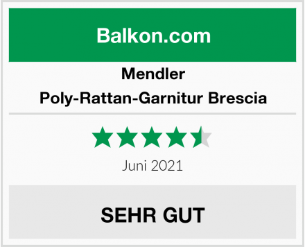 Mendler Poly-Rattan-Garnitur Brescia Test