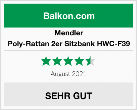 Mendler Poly-Rattan 2er Sitzbank HWC-F39 Test