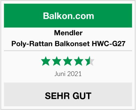 Mendler Poly-Rattan Balkonset HWC-G27 Test