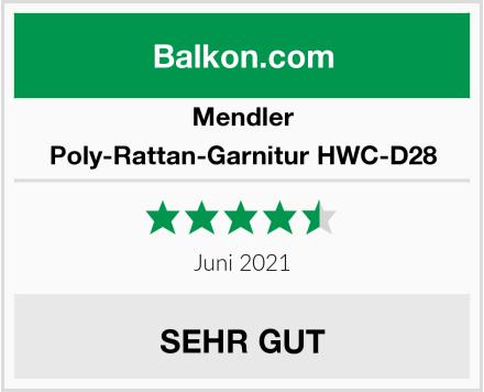 Mendler Poly-Rattan-Garnitur HWC-D28 Test