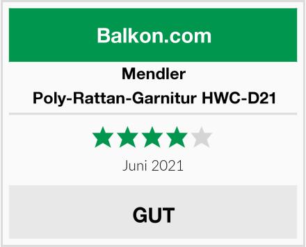 Mendler Poly-Rattan-Garnitur HWC-D21 Test
