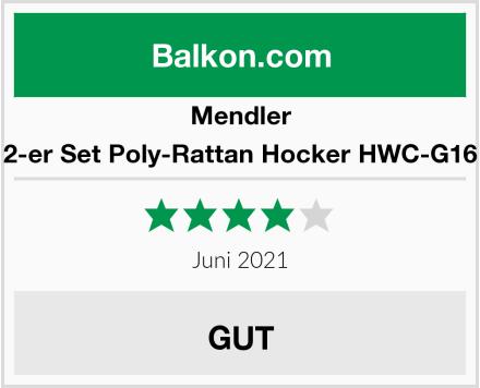 Mendler 2-er Set Poly-Rattan Hocker HWC-G16 Test