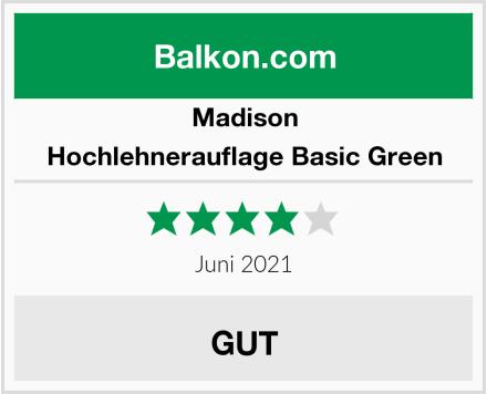 Madison Hochlehnerauflage Basic Green Test