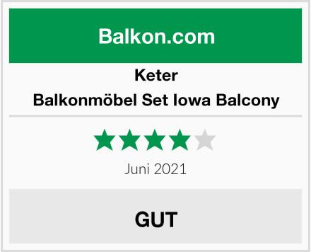 Keter Balkonmöbel Set Iowa Balcony Test