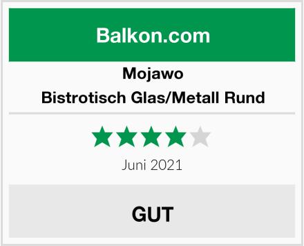Mojawo Bistrotisch Glas/Metall Rund Test