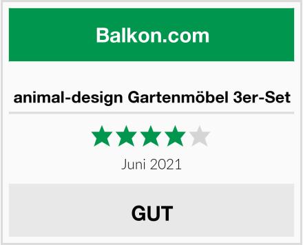 animal-design Gartenmöbel 3er-Set Test