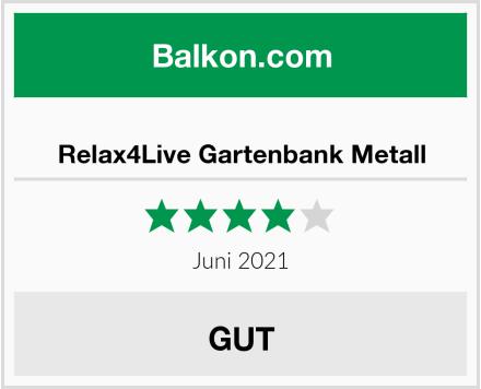 Relax4Live Gartenbank Metall Test
