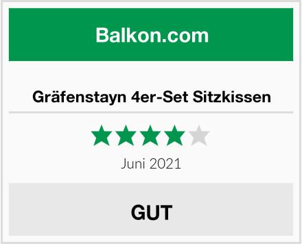 Gräfenstayn 4er-Set Sitzkissen Test