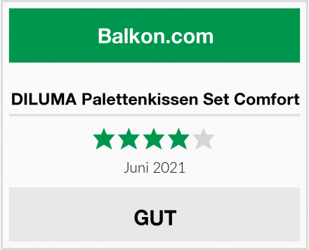 DILUMA Palettenkissen Set Comfort Test