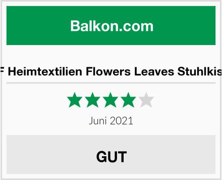 H&F Heimtextilien Flowers Leaves Stuhlkissen Test