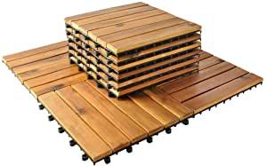 Holzfliesen für Balkon
