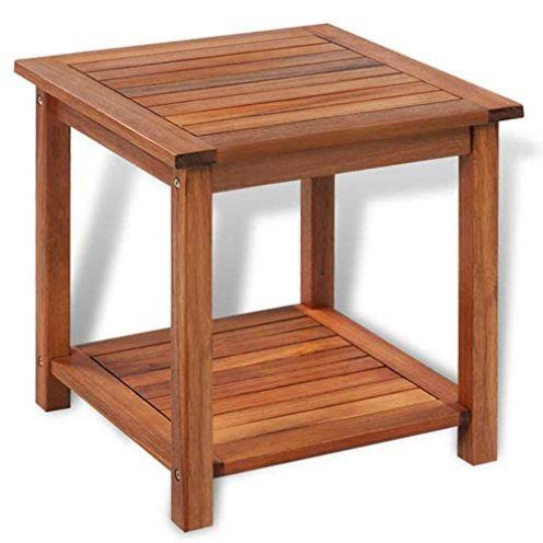 AYNEFY Beistelltisch Akazienholz