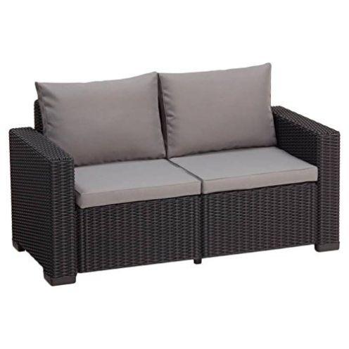 Keter Gartenlounge 2-Sitzer Sofa California