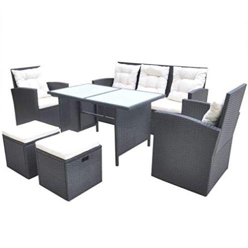 vidaXL Gartenmöbel Polyrattan Set