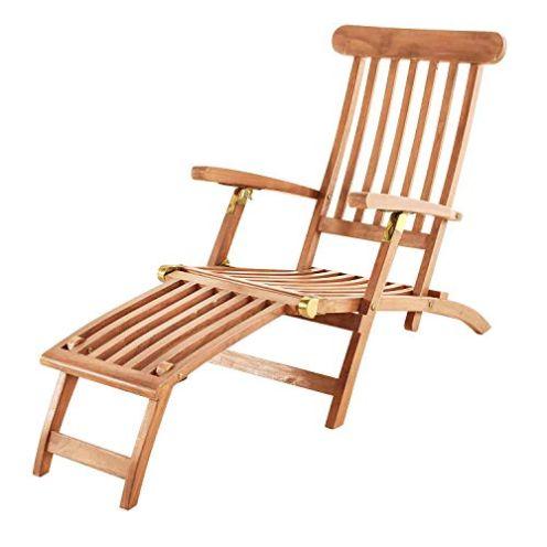 SAM Teak Holz Deckchair