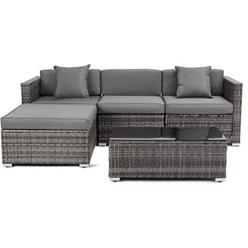 MVPower Polyrattan Garten Sofa Lounge Couch