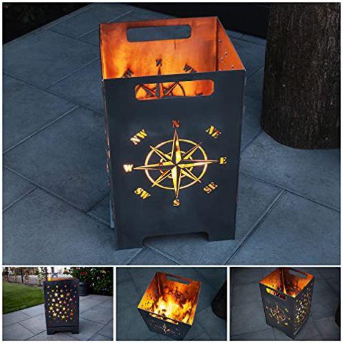 teileplus24 FT01 Feuertonne Kompass