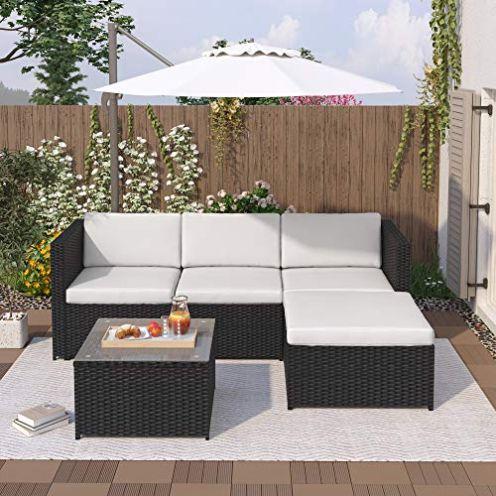 Leisure Zone Polyratten Lounge Set
