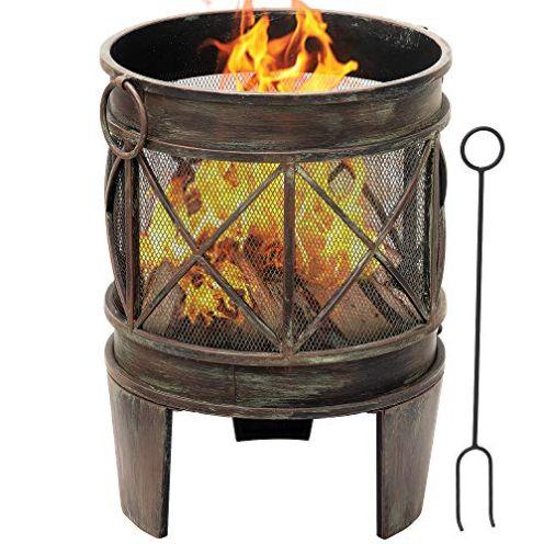 Amagabeli Feuerkorb mit Funkenschutz