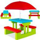 KESSER Kindersitzgruppe mit Sonnenschirm