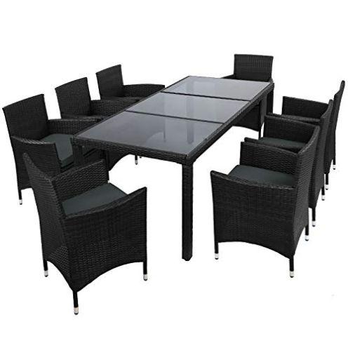 Montafox 17-teilige Polyrattan Sitzgruppe