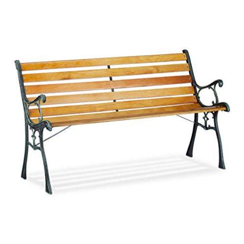 Relaxdays Gartenbank 2-Sitzer