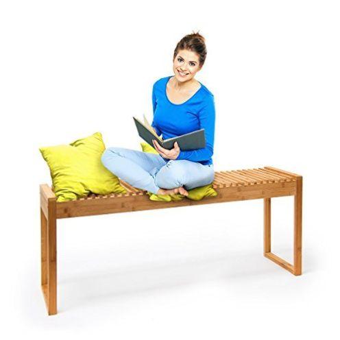 Relaxdays Sitzbank Bambus