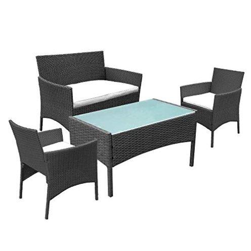 Hengda Gartenmöbel Set aus Polyrattan